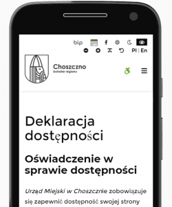 Przybornik dostępności (ekran telefonu)