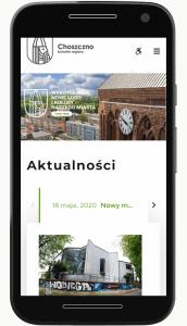 Strona Choszczno.pl na ekranie telefonu